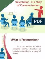 Presentation as a Way of Communication
