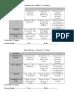 Pauta Evaluación Cuaderno de Vocabulario