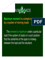 Lecture 5 - Moving Loads