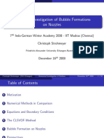 Numerical Investigation of Bubble Formations on Nozzles