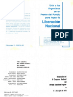 PSP (1975) - Resolución Del II Congreso Nacional Del Partido Socialista Popular