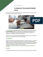 10 Tips Para Mejorar La Productividad de Su Empresa
