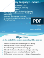 New FOUN 1105 Plenary 1 Summer Programme 2016 2017