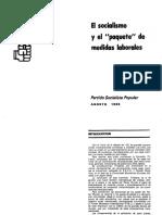 PSP (1986) - El Socialismo y El Paquete de Medidas Laborales