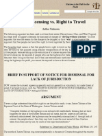 Driver Licensing vs. Right to Travel - The Lawful Path