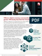 VMware vSphere memory overcommitment delivered greater VM density than Red Hat Virtualization