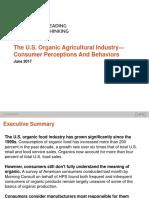 The U.S. Organic Industry-Consumer Perceptions and Behavior
