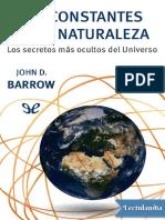 Las Constantes de La Naturaleza - John D Barrow