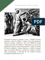 O Endemoniado Geraseno Ou Gadareno e Os Porcos e a Legio Fretensis
