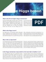 Factsheet- Cern and the Higgs Boson