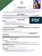 Professional Resume Format (9)