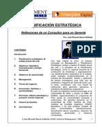 Planificacion Estrategica. Reflexiones de Un Consultor Para Un Gerente-Ibarra Gallardo