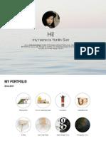 Yunlin Sun. My Portfolio. Industrial Design