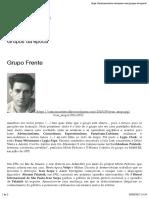 Texto - Grupo Frente - Carioca