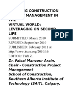 Learning Construction Project Management in The