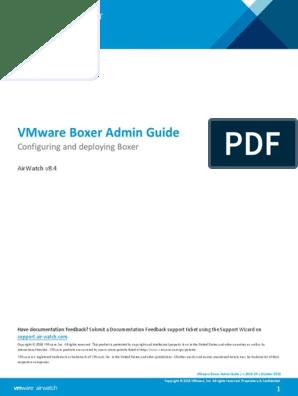 VMware Boxer Admin Guide v8_4 | Mobile App | Ios