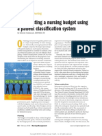Constructing a Nursing Budget Using a Pateint Classification System