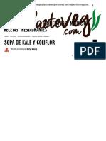 _Sopa de Kale-COL RIZADA- y Coliflor _ Platos Entrantes _ Caldos, Sopas & Cremas _ HazteVeg