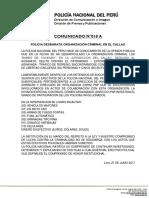 COMUNICADO PNP N° 18 A