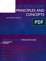 Health Education Principles and Concepts