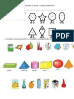Evaluación de Figuras y Cuerpos Geométricos