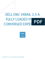 Dell Emc Vxrail 3.5 a Fully Loaded Hyper-converged Experience