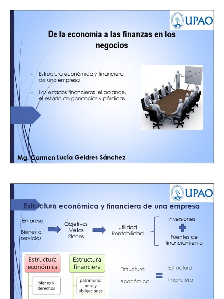 Estructura Economica Y Financiera Pdf
