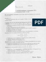 Corrige Et Examen de Biostatistique 2LMD 2015