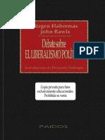 Habermas-j-rawls-j. Debate Sobre El Liberalismo Politico