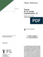 Habermas, Jurgen. Teoria de La Accion Comunicativa Vol II