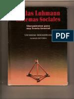 Luhmann, Niklas. Sistemas Sociales Cap 1