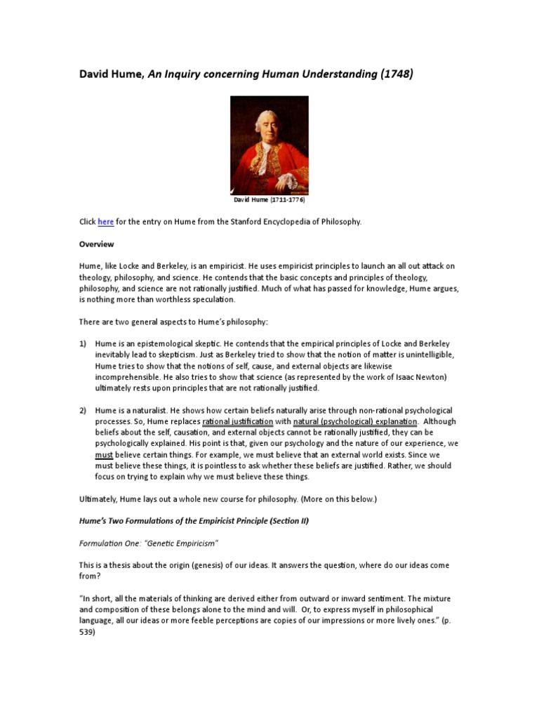 Hume Empiricism Mind David Hume Empiricism