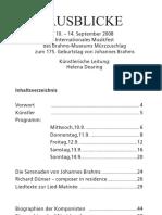 Brahmsfest 08 Programmaacbuch Im Detail