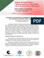 Salud Mental en Bomberos Voluntarios de de la Provincia de Buenos Aires, Argentina