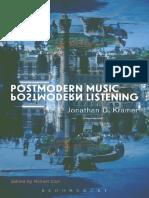 Jonathan Kramer PostModern Listening