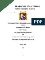Planiamiento Sub. Sublevel Stoping