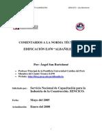 San Bartolome. 2008. Comentarios a La NT E-070 Albañileria