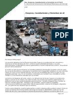 Servindi - Servicios de Comunicacion Intercultural - Lluvias Torrenciales Huaycos Inundaciones y Derechos en El Peru - 2017-03-20