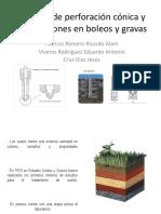 Método de Perforación Cónica y Perforaciones en Boleos