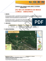 Deslizamiento en Los Distritos de Imaza