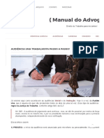 Audiência Una Trabalhista passo a passo! _ { Manual do Advogado }.pdf