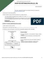 Control Sensor de Detonacion (Ks) (Zj, z6)