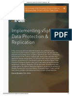Implementing VSphere Data Protection & Replication - InE
