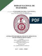 Generación Distribuida Con Uso de Energías Renovables (Lima-Perú, 2017)