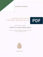 César Dopazo García_Cavitar o No Cavitar. La Inevitable Ubicuidad de las Burbujas_Lección Inaugural 2008