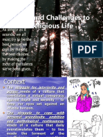 Challenges to Religious Life