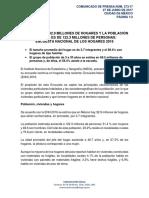 EN MÉXICO HAY 32.9 MILLONES DE HOGARES Y LA POBLACIÓN ESTIMADA ES DE 122.3 MILLONES DE PERSONAS