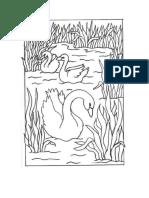 plantilla dibujo cisne