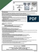 Manual de Uso Luz de Emergencia LED Atomlux Modelo 8091 LED HEAVY Gabinete Plastico