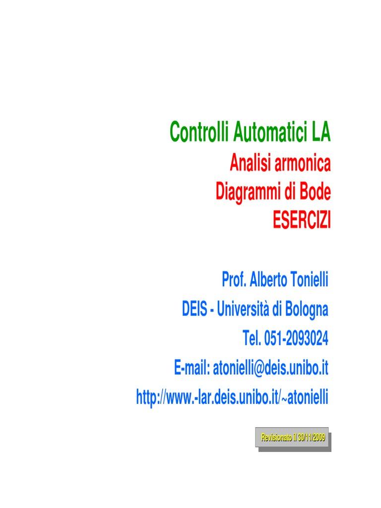 Controlli Automatici La  Analisi Armonica Diagrammi Di